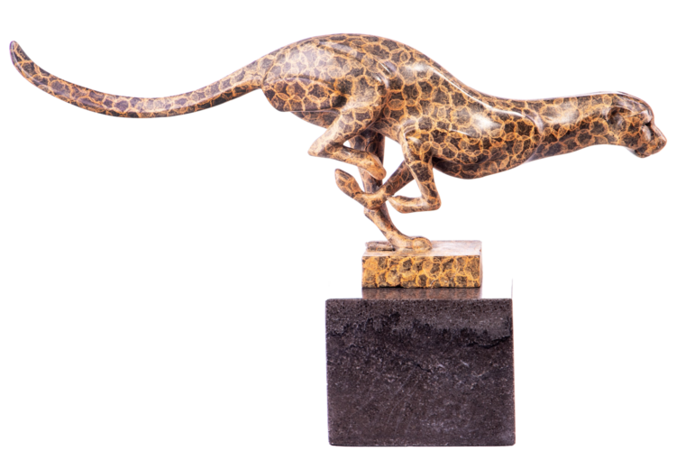 """Bronzen beeld """"Luipaard"""""""