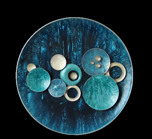 """Metalen wanddecoratie """"Jewel of the Sea"""""""