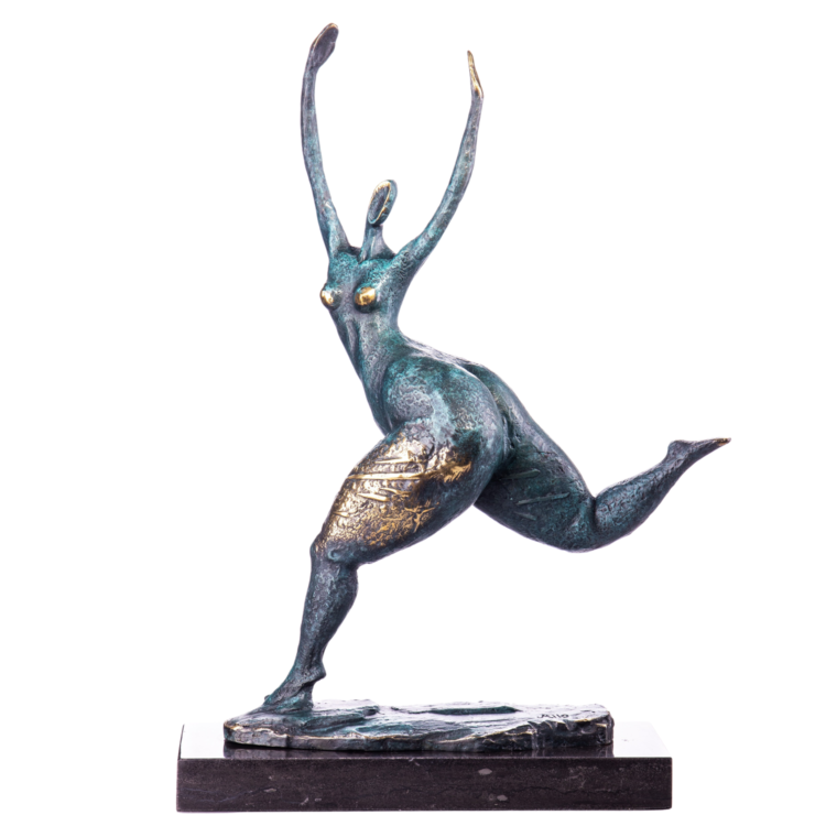 """Bronzen beeld """"Contemporary Swing"""""""