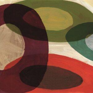 """Design karpet """"Abstract circles"""" van MondiArt"""