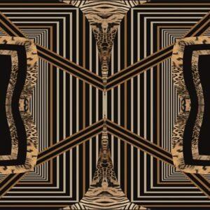 """Design karpet """"Dark Kalido"""" van MondiArt"""