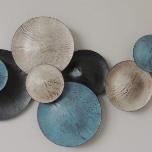"""Metalen wanddecoratie """"Nine cirkels"""""""