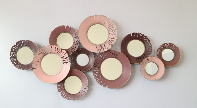 """Metalen wanddecoratie """"10 cirkels"""""""