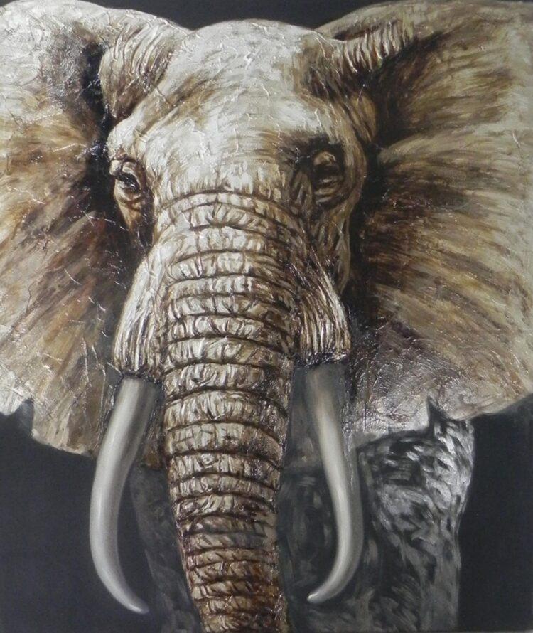 """Schilderij """"The Elephant"""""""