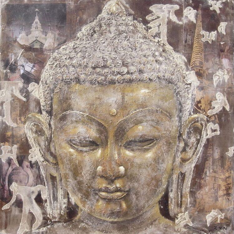 """Schilderij """"Wisdom of Buddha"""""""