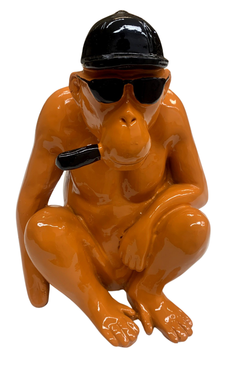 "Beeld ""Coole chimpansee oranje"""