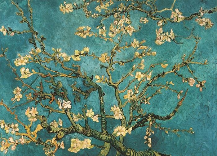 "Wandkleed ""Blue Blossom"" van Mondiart"