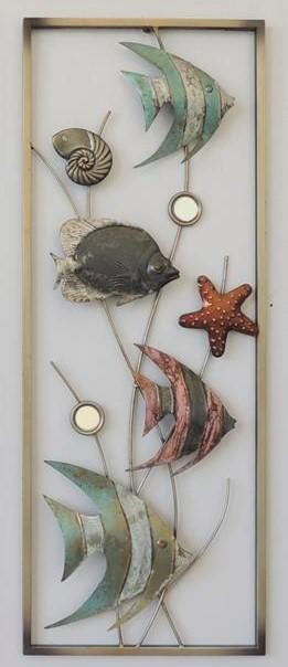 Metalen wanddecoratie Fish in the Sea Vissen GS-A31