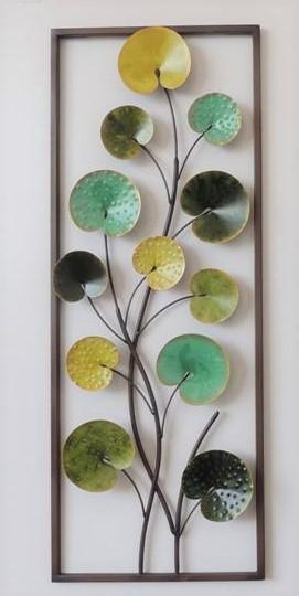 "Metalen wanddecoratie ""Leaves in Shades"""