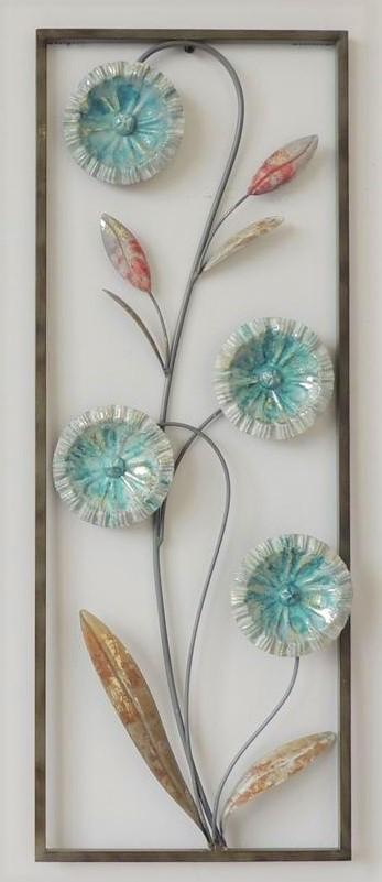 """Metalen wanddecoratie """"Luna Flower"""""""