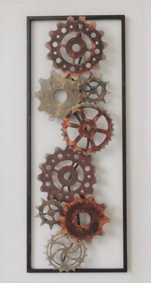 Metalen wanddecoratie Mechanical Gear Tandwielen GS-A24