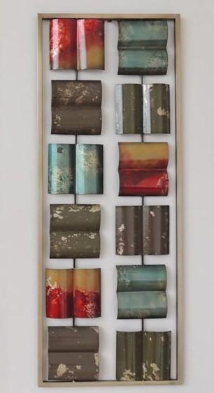 Metalen wanddecoratie Square Pieces Vierkant GS-A25