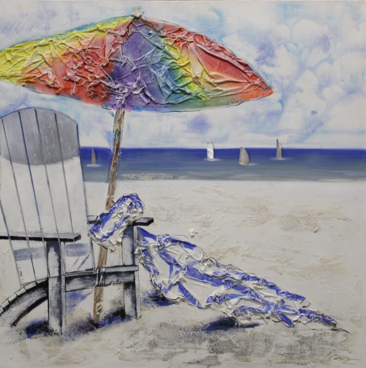 "Schilderij ""Beach Time"""