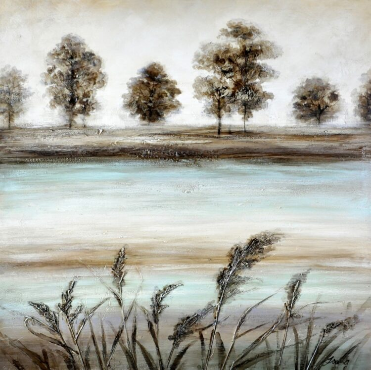 "Schilderij ""By the Lake"""