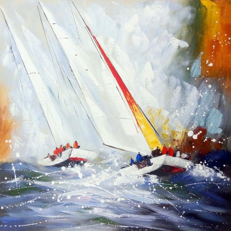 """Schilderij """"Race on Sea"""""""
