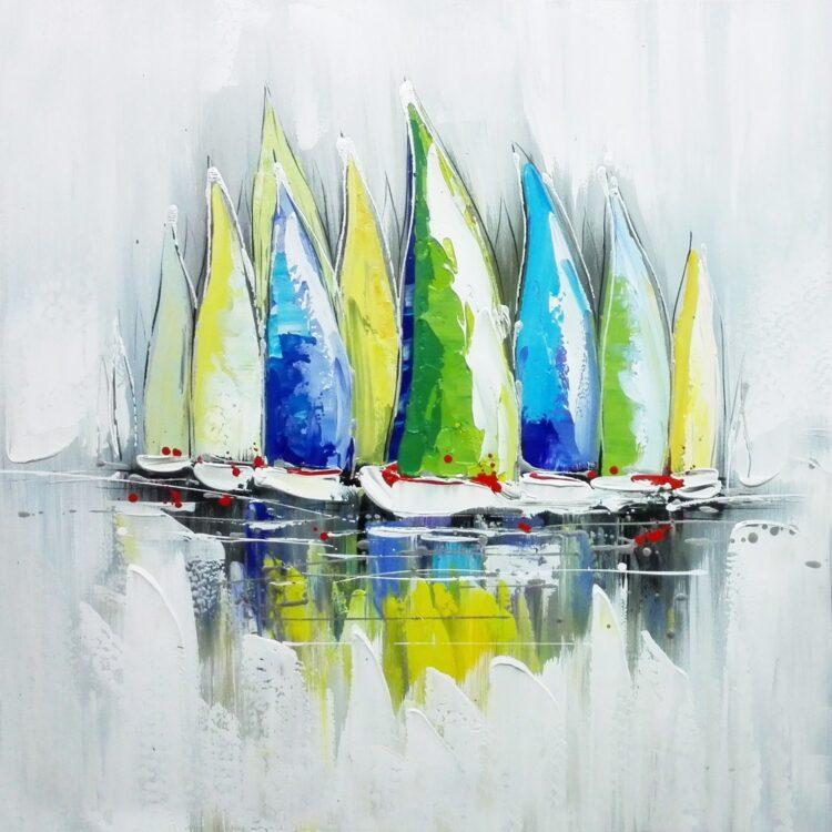 "Schilderij ""Sailboats Glory"""