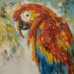 "Schilderij ""Staring Macaw"""