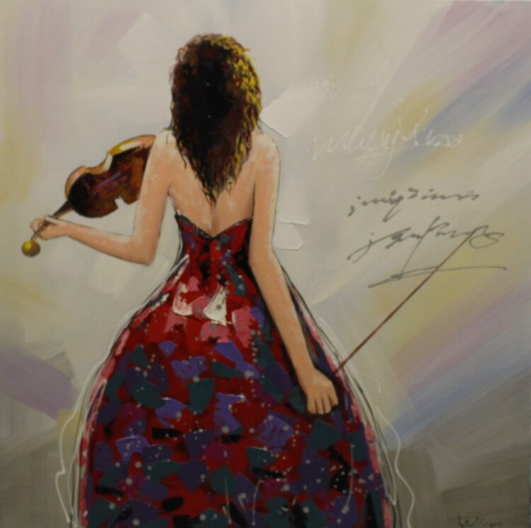 "Schilderij ""Violin Grace"""