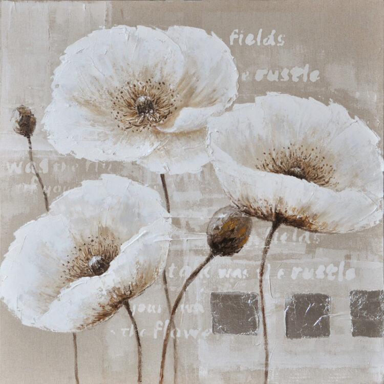 "Schilderij ""White Blossom & Poems"""