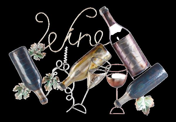 """Metalen wanddecoratie """"vinho"""""""