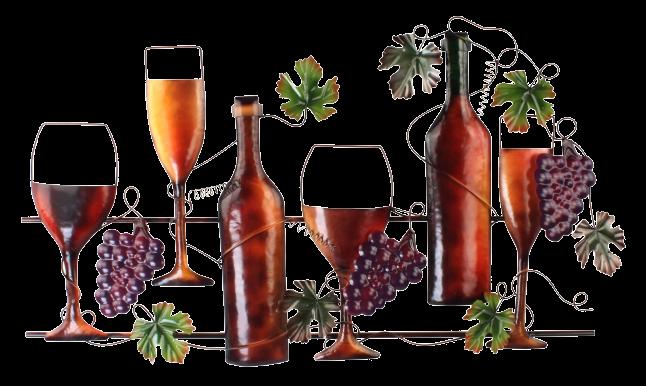 """Metalen wanddecoratie """"beviamo vino"""""""