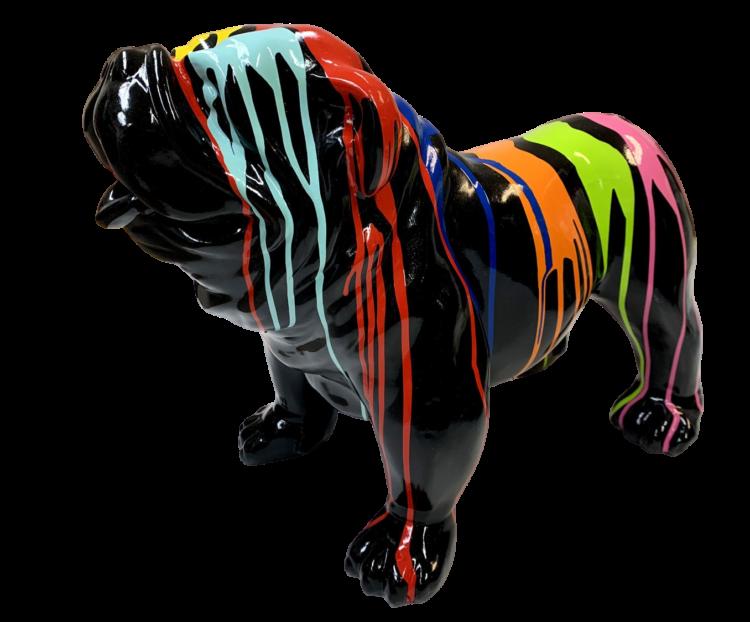 "Beeld ""Engelse Bulldog Zwart dripping"""