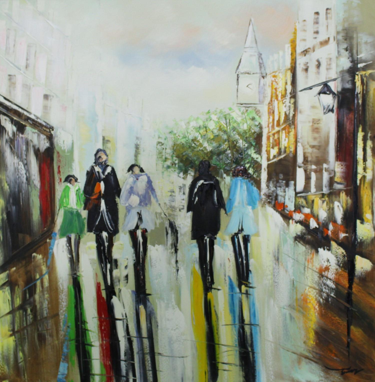 Schilderij City Stroll Wandelen Voetgangers GS-Y8596