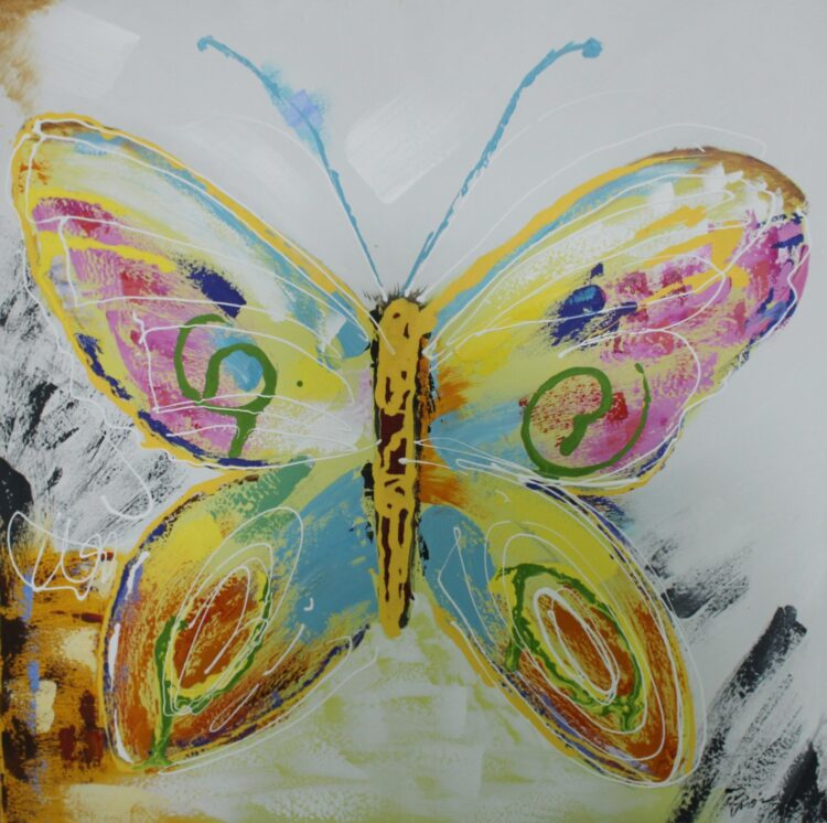 """Schilderij """"Colorful Butterfly"""""""