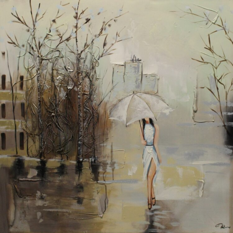 "Schilderij ""Elegant City Lady"""