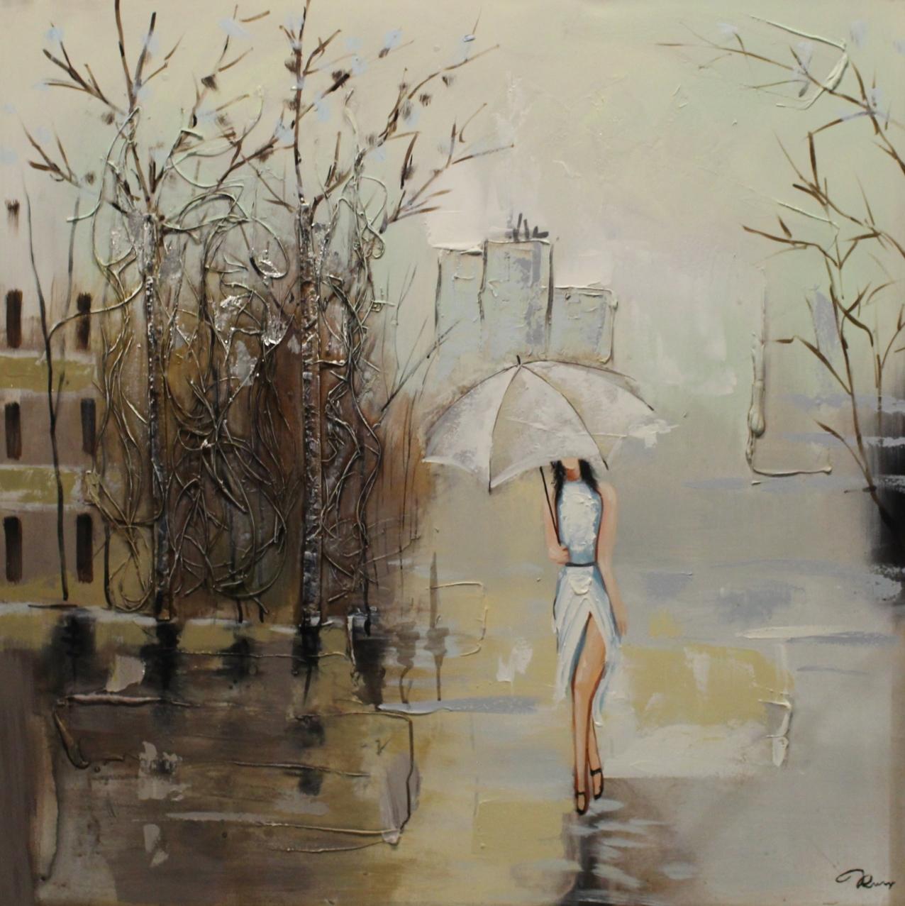 Schilderij Elegant City Lady Vrouwen Wandeling GS-Y944b