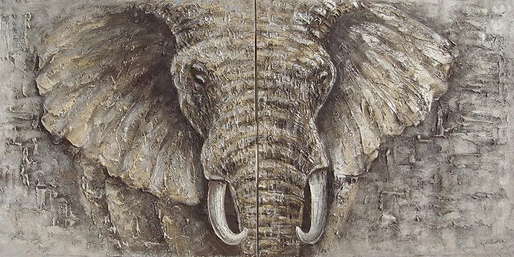 Schilderij Elephant King Olifant Ivoor GS-F9122