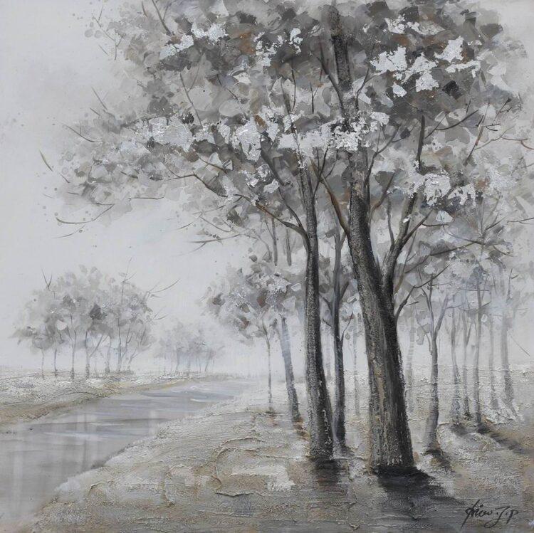 """Schilderij """"Forest by the Stream"""""""