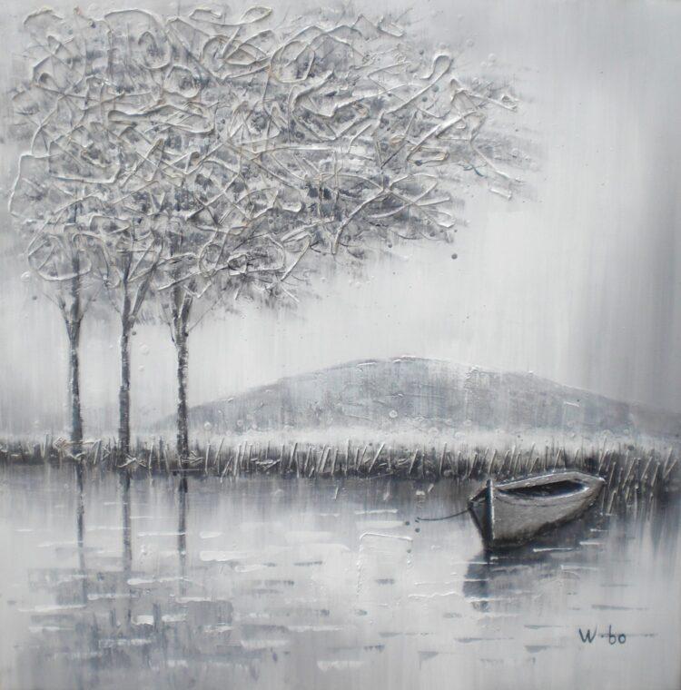 """Schilderij """"Grey Landscape"""""""