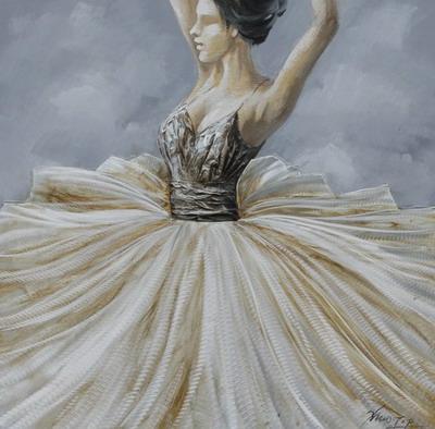 """Schilderij """"La Ballerina"""""""