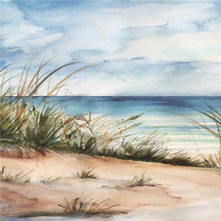 """Schilderij """"Quiet Beach"""""""