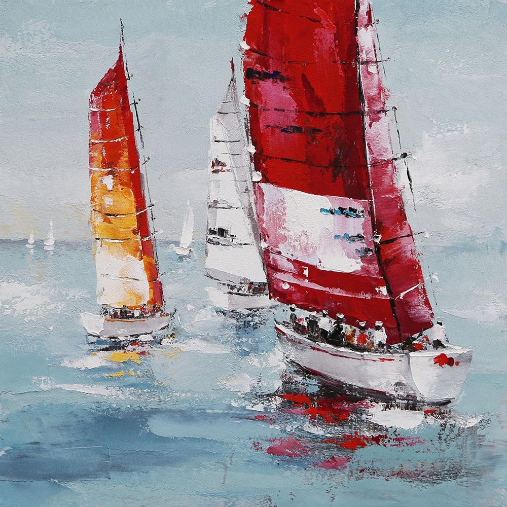 Schilderij Sailor's Joy Zeilboot Matroos GS-F4690