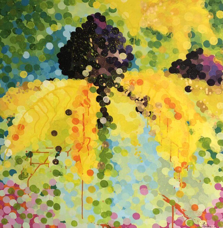 """Schilderij """"Zonnehoed"""" van Anneke Swanink"""
