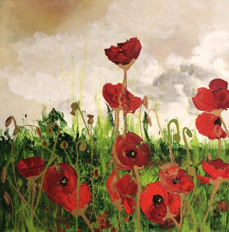 """Schilderij """"poppies"""" van Anneke Swanink"""