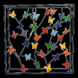 """Metalen wanddecoratie """"Butterflies on wires"""""""
