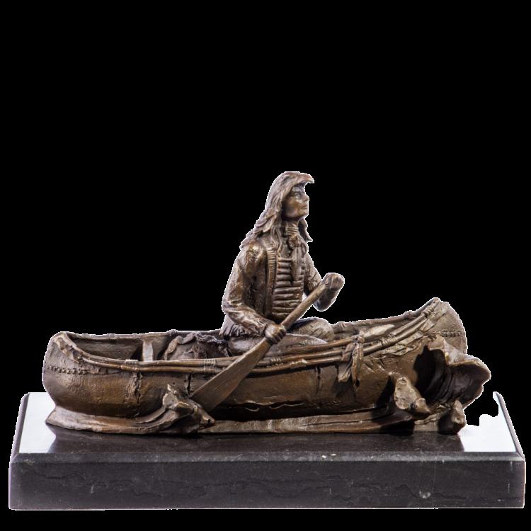 """Bronzen beeld """"Native American"""""""
