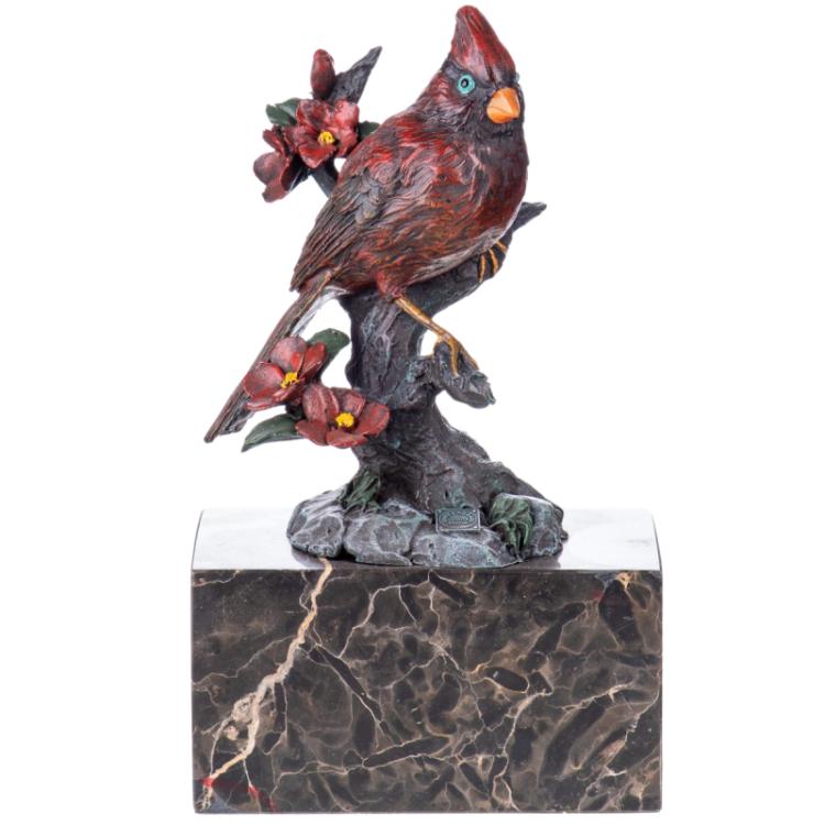 """Bronzen beeld """"The Northern Cardinal"""""""