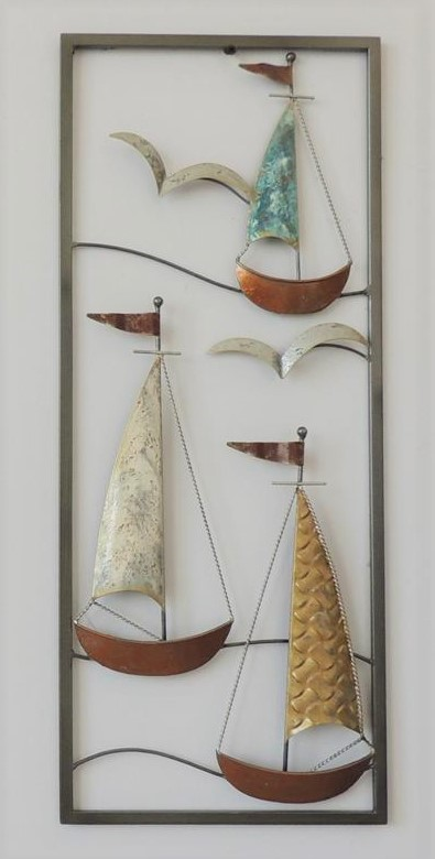 "Metalen wanddecoratie ""Sailing Far Away"""
