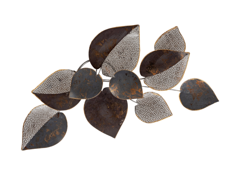 "Metalen wanddecoratie ""Leaves of the Night"""