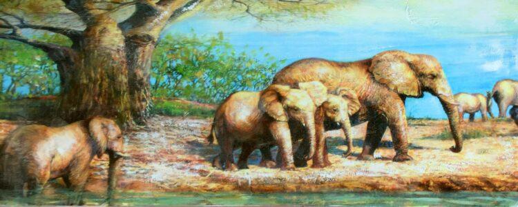 """Schilderij """"Elephant Journey"""""""