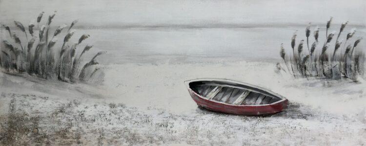 "Schilderij ""Lonely by the Shore"""