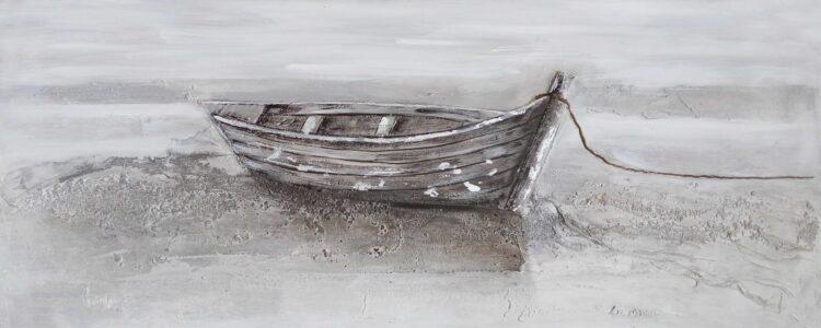 """Schilderij """"Only Boat by Shore"""""""