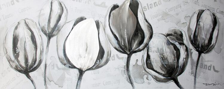 "Schilderij ""Tourism Tulips"""