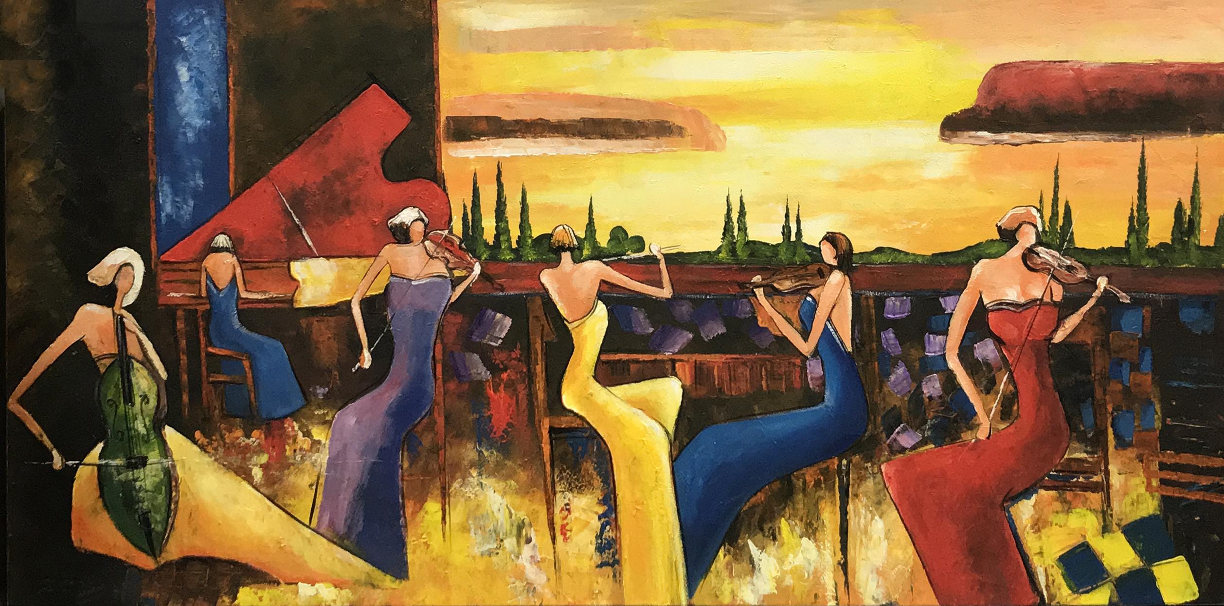 schilderij ensemble orkest