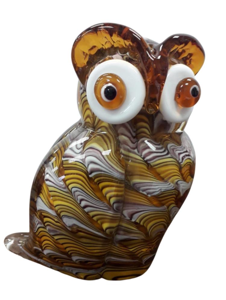 """Glazen beeld """"Brown Owl"""""""