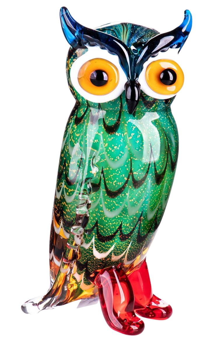 "Glazen beeld ""Colorful Owl"""